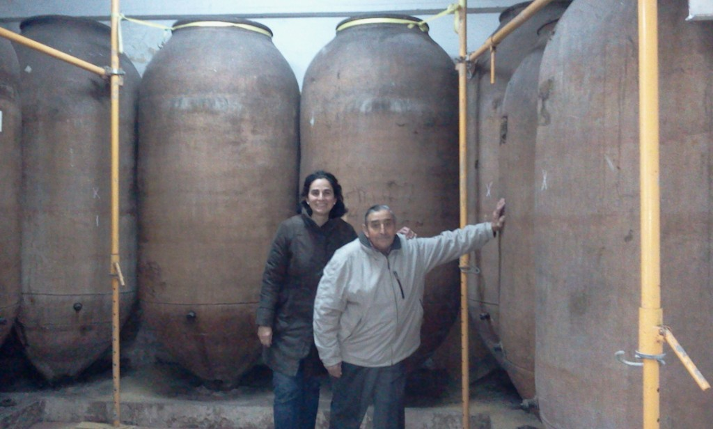 Don Eugenio Cuerdo con su hija Maria Cuerdo preparandose para Cuerdo Delicatessen (2012)