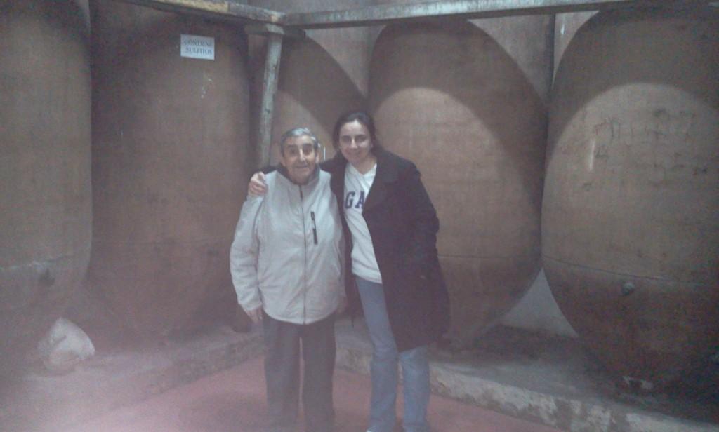 Don Eugenio Cuerdo con su hija  pequeña Ana Cuerdo (2012)