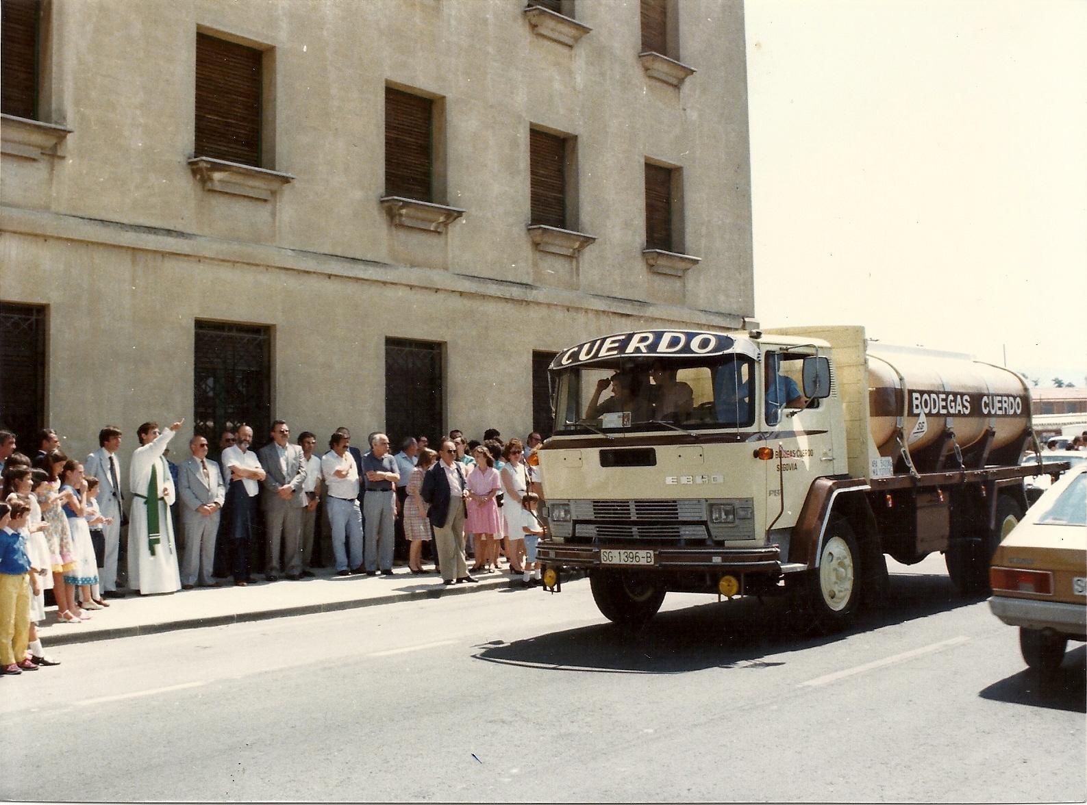 Festividad de San Cristobal. El Camión Cisterna de Cuerdo