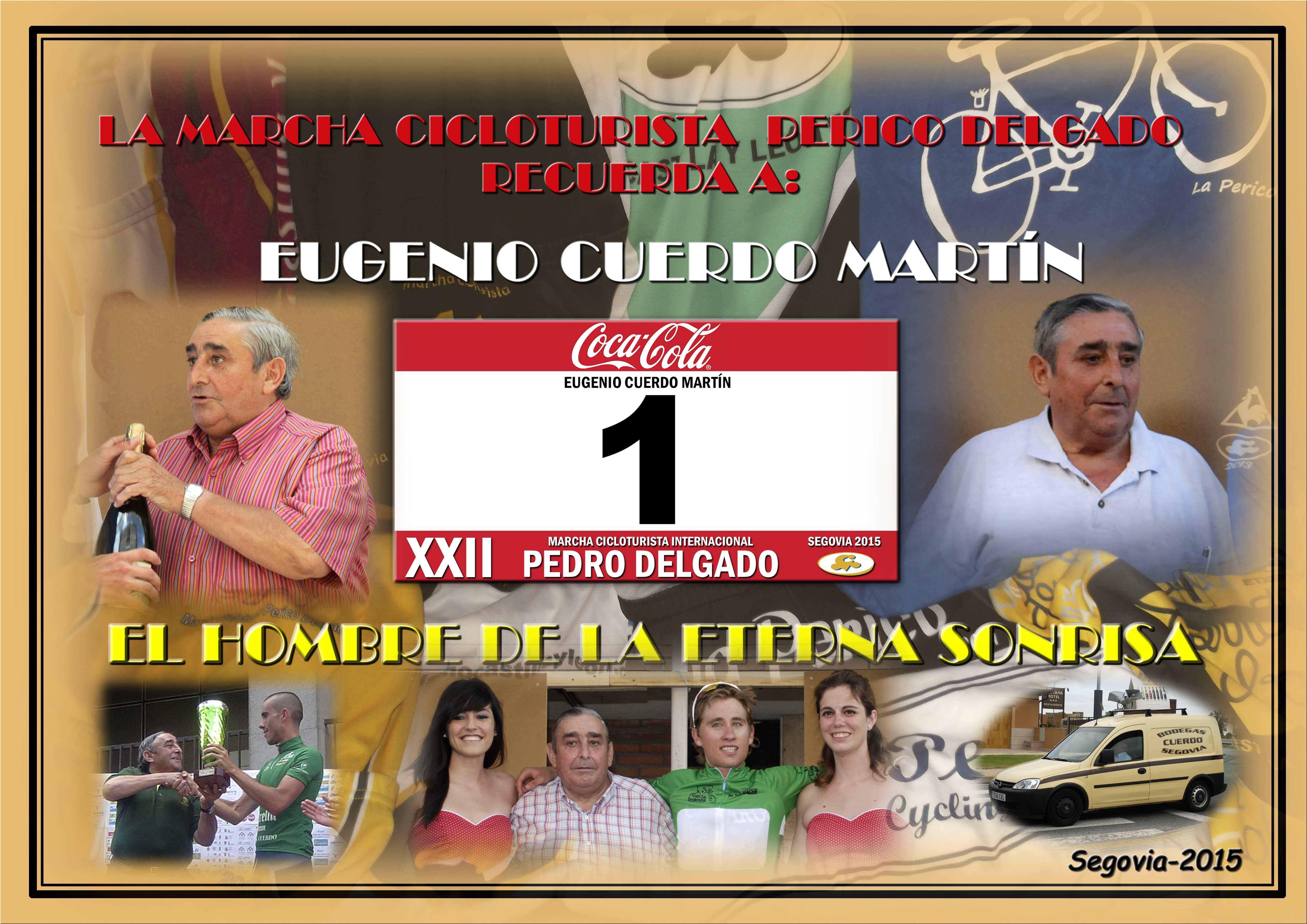 Homenaje a Don Eugenio Cuerdo en la Marcha Cicloturista Internacional Pedro Delgado (2015)